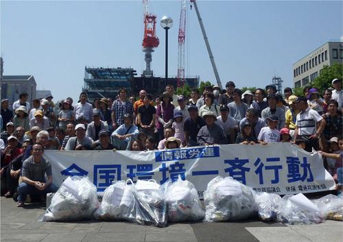 全国環境一斉行動の皆さんと 熊本市議会議員 上田芳裕