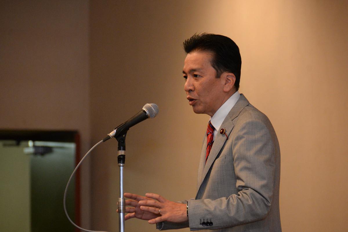 上田芳裕総決起集会 熊本市議会議員 上田芳裕
